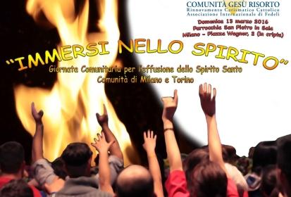 (Italiano) Giornata Comunitaria per l'Effusione dello Spirito Santo – Milano e Torino