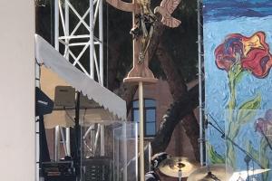 Crocifisso CCR al circo Massimo