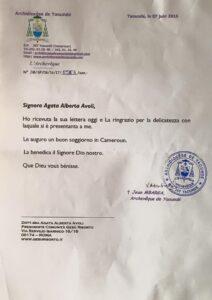 lettera accoglienza vescovo