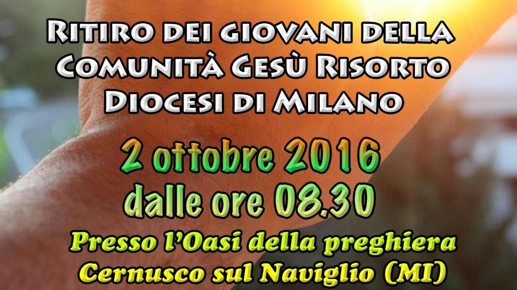 Ritiro dei giovani della Diocesi di Milano