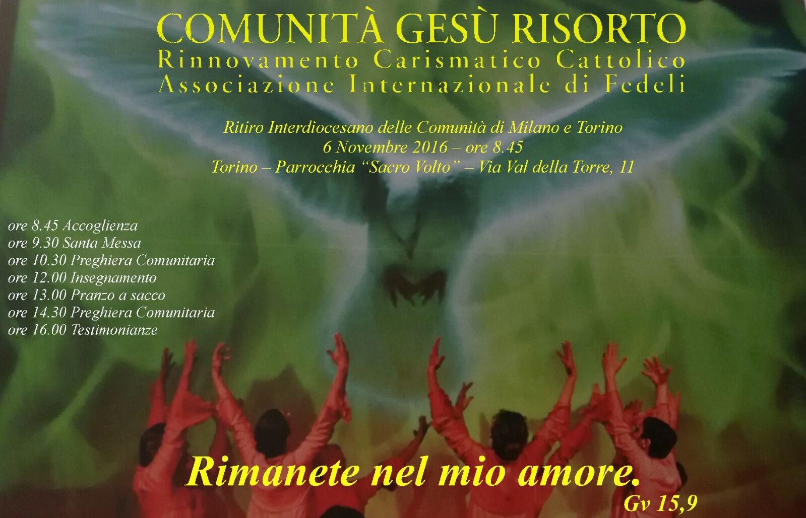 Ritiro Interdiocesano Milano e Torino