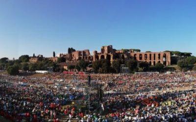 Papa Francesco incontra i giovani italiani al Circo Massimo